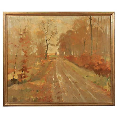 Long Autumn Road by Ove Kunert, 1939
