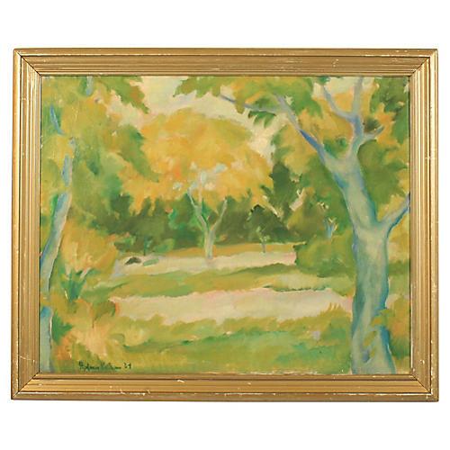 Hjalmar Nielsen Expressionist Forest