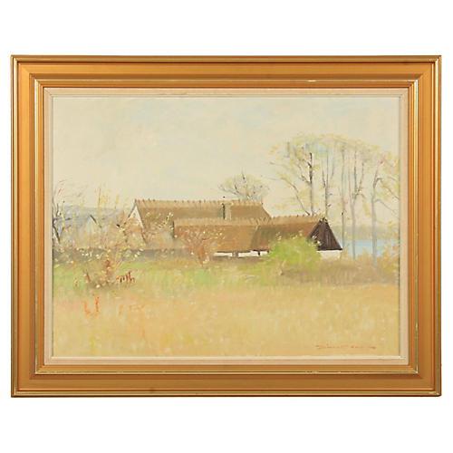 Midcentury Jørn Glob Farm Landscape