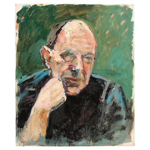 Mogens Hoff Portrait of a Man in Black