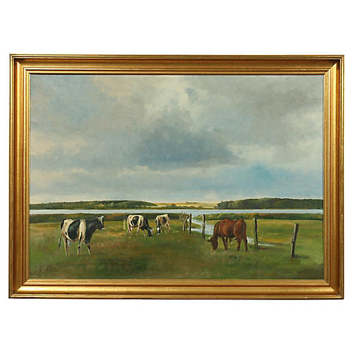 Cows in a Field by Niels Christiansen