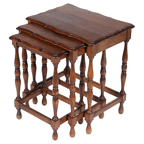 Vintage French Nesting Tables, S/3