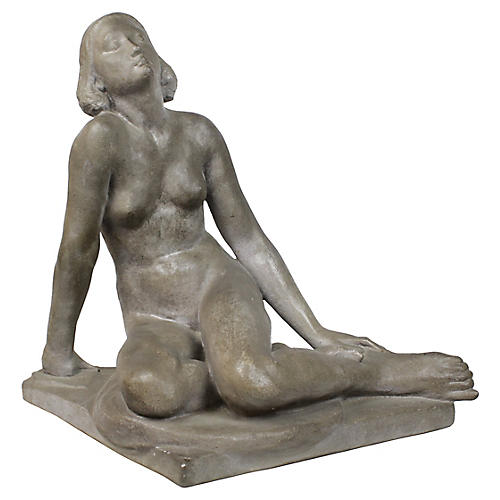 Reclining Nude Female Sculpture