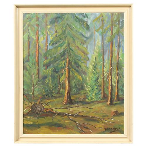 Forest Landscape by Arthur Kobberup