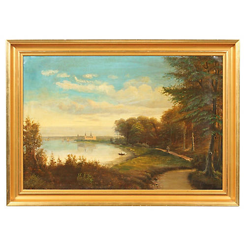 Forest Landscape by the Water