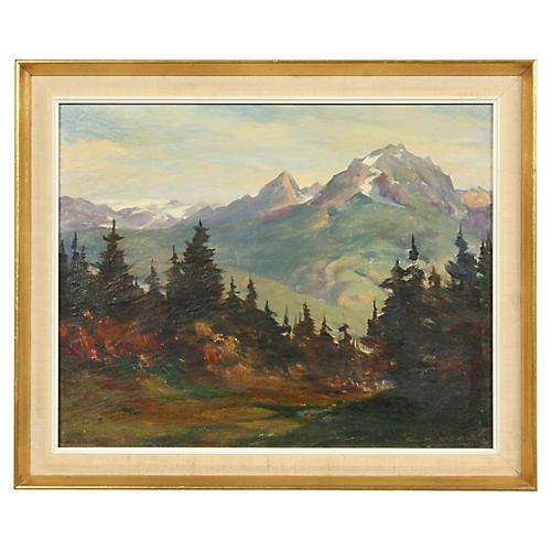 Mountain Landscape by C. Kassak