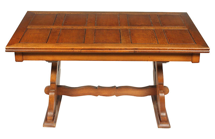 C.1940 Belgian Trestle Dining Table