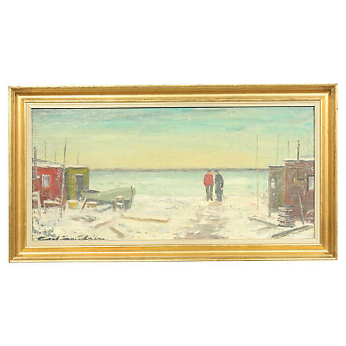 Two Men by the Harbor