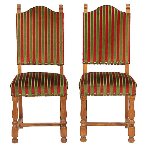 1930's Tuscan-Style Dining Chairs, S/2