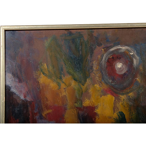Earth Toned Abstract Painting by Dahl