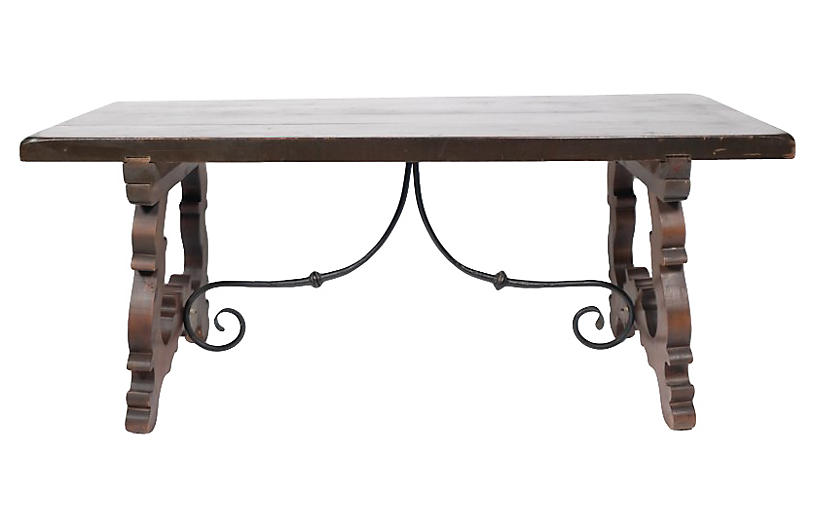 French Baroque Trestle Dining Table