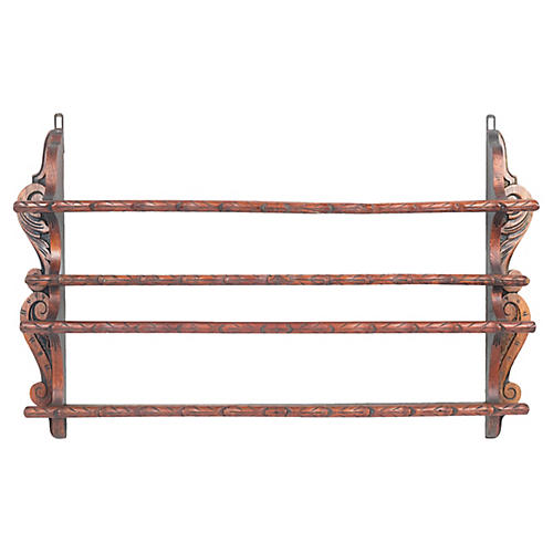 C.1890 Dutch Plate Rack