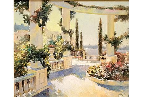 Mediterranean Vista by V. Bondaren