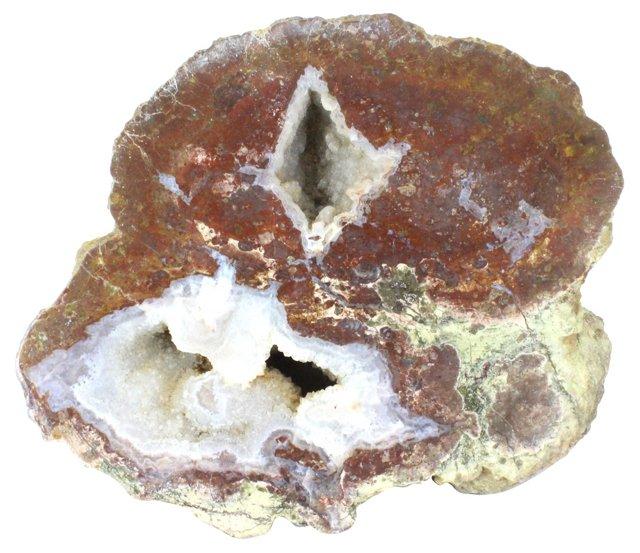 Polished Crystal Geode Slab