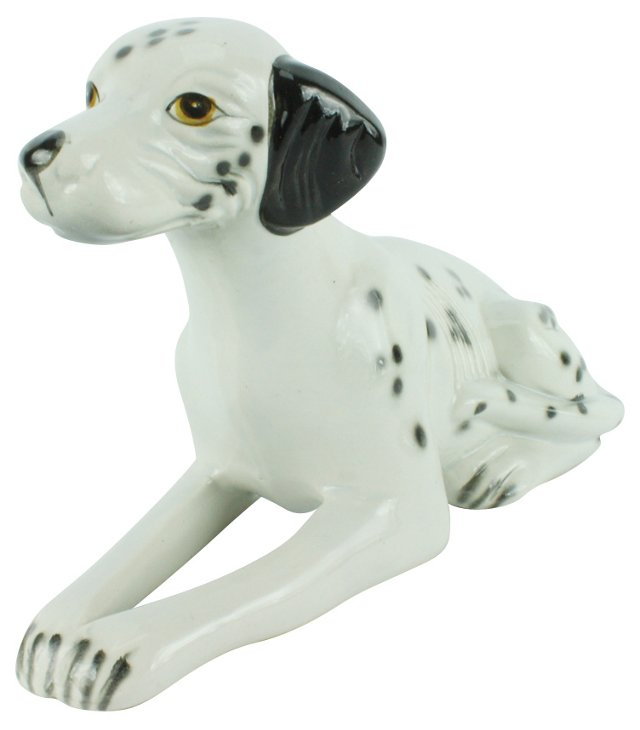 Sitting Ceramic Dalmatian
