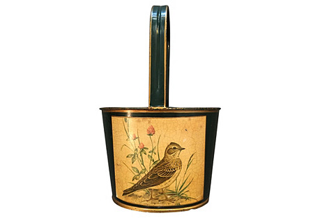 French Tole Bottle Caddy, C. 1950