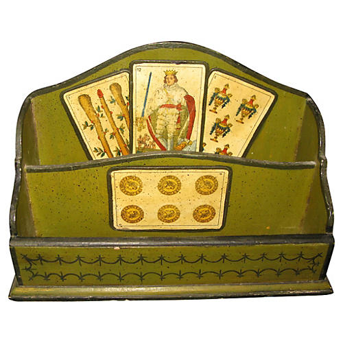 Italian Letter Holder Playing Cards