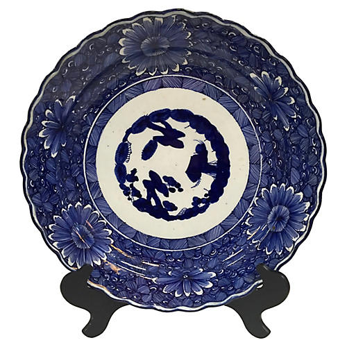 Asian Flow Blue Daisy Charger