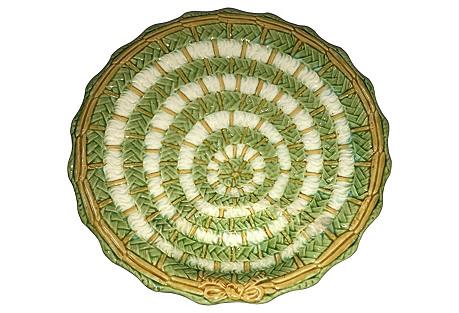 Majolica Asparagus Plate, C.1880