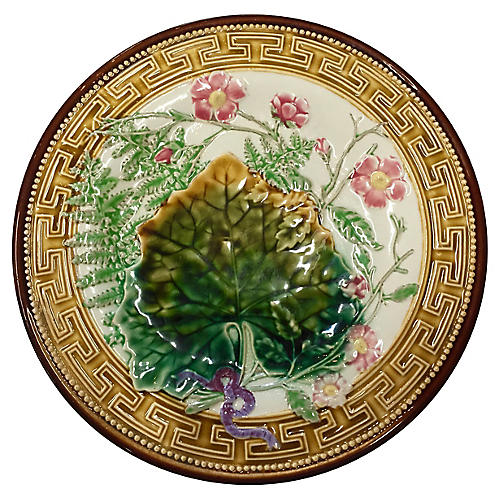 Antique Choisy le Roi Majolica Plate