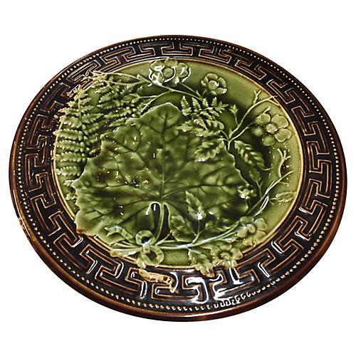 Majolica Plate, Choisy le Roi C.1890