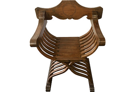 Italian Savonarola Folding Chair