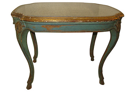 Venetian Mirrored Painted Table