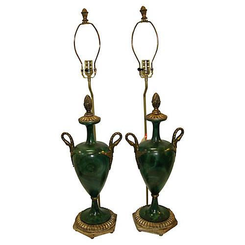 Italian Swan Lamps, Pair