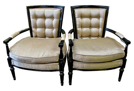 Maitland Smith Armchairs, Pair