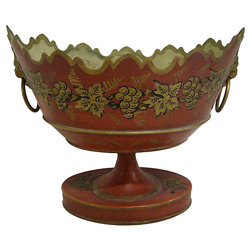 French Tole Monteith Bowl, C.1950