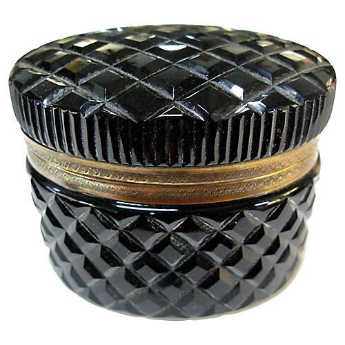 French Opaline Glass Jewelry Box