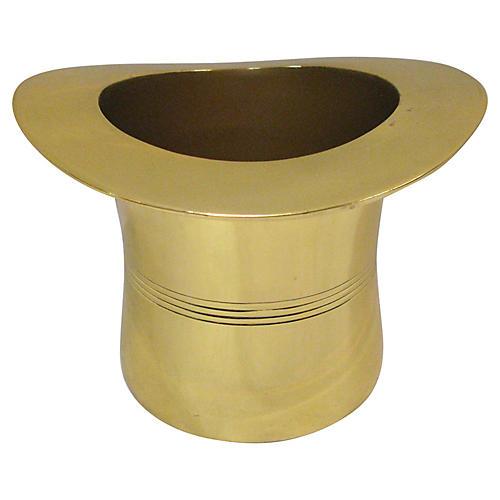 Brass Top Hat Wine Cooler by Godinger