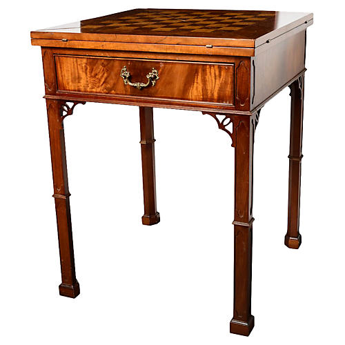 Chippendale-Style Envelope Game Table