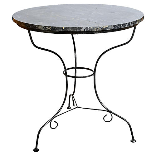 French Bistro Table w/ Marble Top