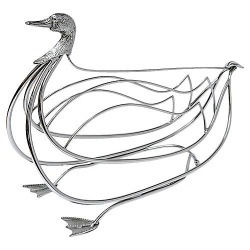 Duck Magazine Rack, Attr. Maison Jansen