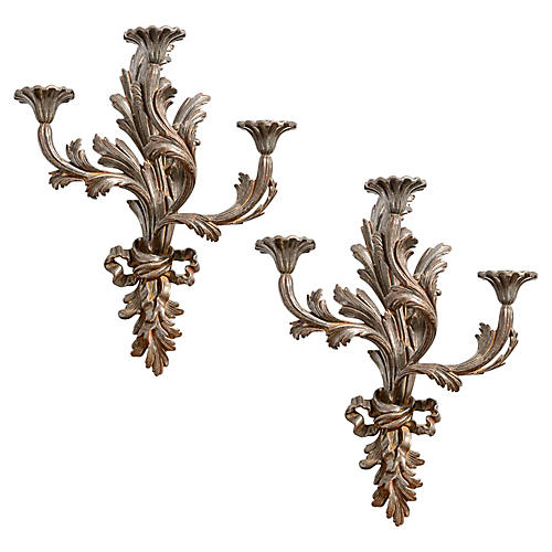 Italian Candle Sconces, S/2