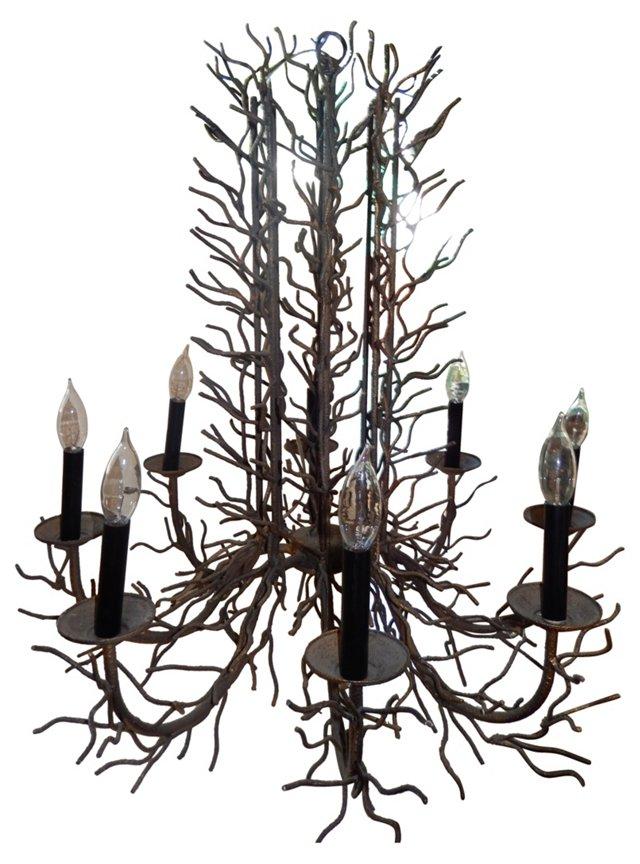 Bronze Twig Chandelier
