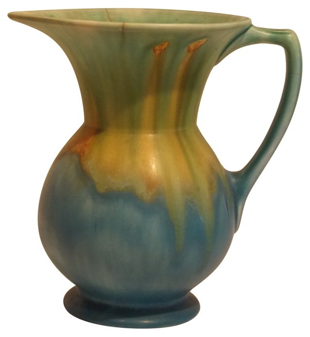 1930s English Hand-Painted Vase