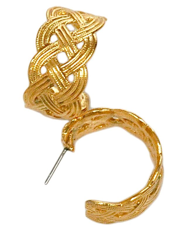 Napier Woven Hoop Earrings