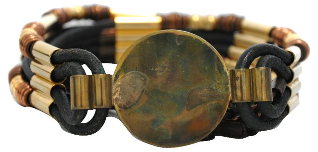 Handcrafted Leather & Brass Belt