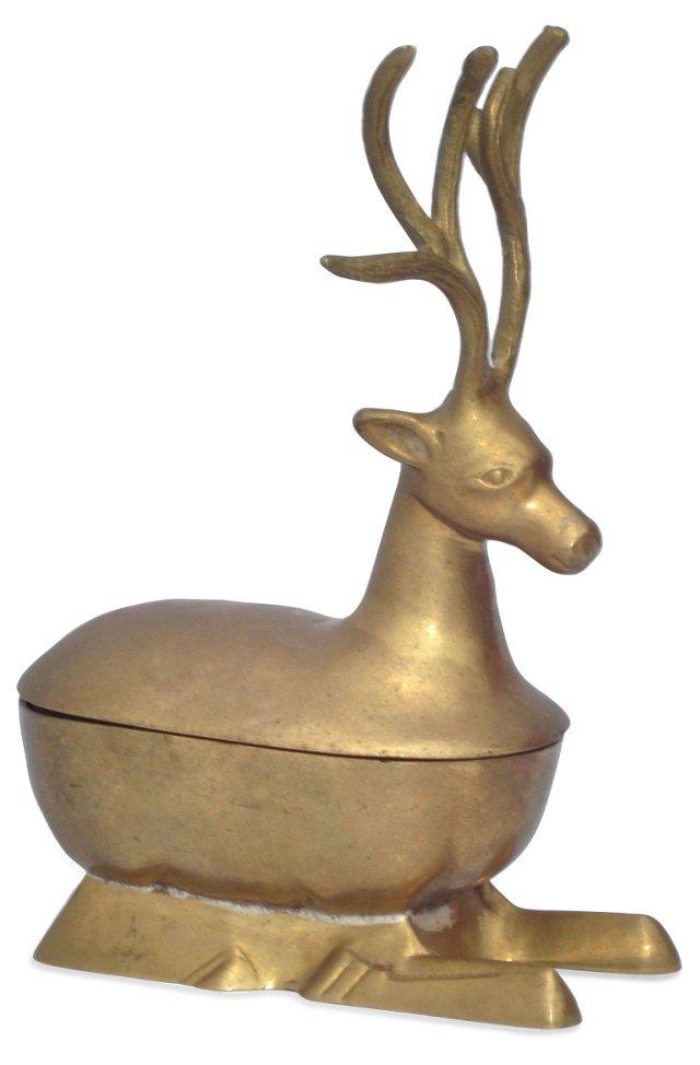 Brass Deer Trinket Box