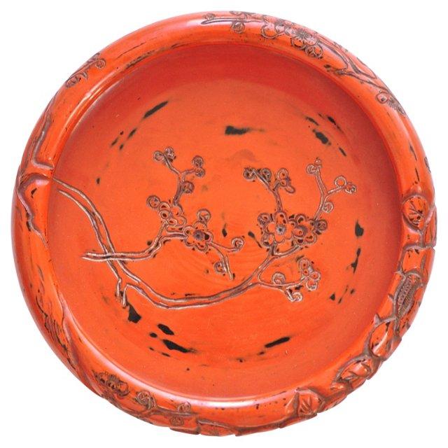 Japanese Negoro Lacquer Tea Tray