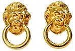 Donald Stannard Lion Head Earrings