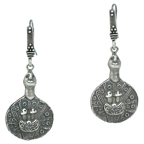 Sterling Figural Dangle Earrings