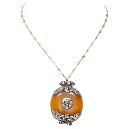 Tibetan Faux-Amber Pendant
