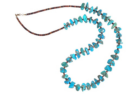Deep Turquoise Nuggets Necklace