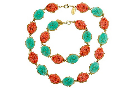 Chinoiserie Bracelet & Necklace