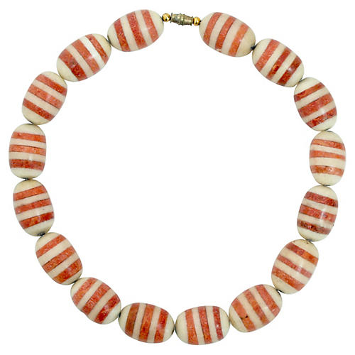Coral Inlay Necklace