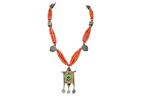 Berber Faux-Coral Necklace