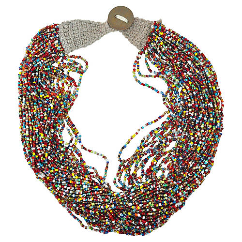 Multicolored Beaded Nagaland Necklace